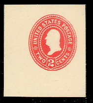 U362 2c Carmine on White, die 2, Mint Cut Square