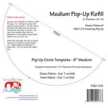 """FQG123 Medium 8"""" Pop Up Refill"""