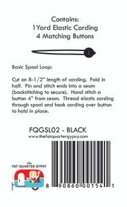 FQGSL02 Spool Loops Black