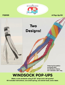 FQG135 Windsock Pop Up Kit - Includes instructions, spring, swivel hook, and label for one.
