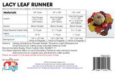 FQG401 Lacy Leaf Runner (Topper)