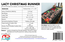 FQG404 Lacy Christmas Runner