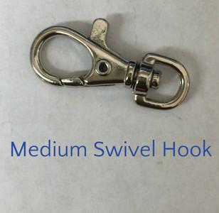 "Medium 1.5"" x .75"" swivel hook"