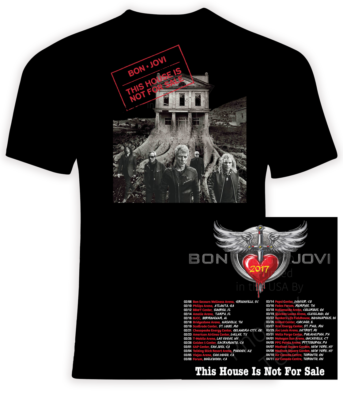 Official Bon Jovi 2016 Tour T-shirt | All Products for Live Show ...