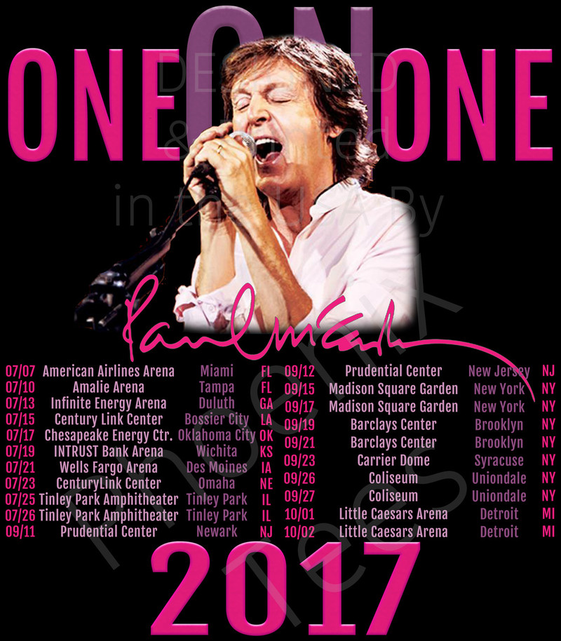 Paul Mccartney 2017 One On One Concert Tour T Shirt Phoenix Tees