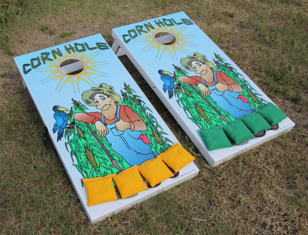 Cornhole Boards - Slimline Series - Farmer Graphics