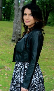 Crop Faux Leather Jacket