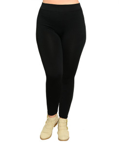 Fleece Lined Stretch Legging - Black