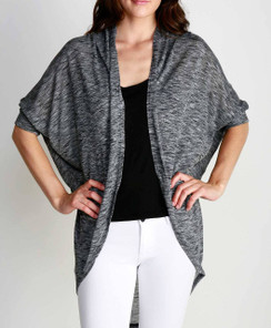 Dolman Sleeve Cardigan - Charcoal