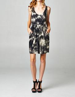 Black Tie Dye Dress