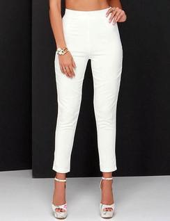 White Skinny Leg Capri