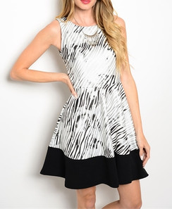 Black/Silver Zeebra Print Dress