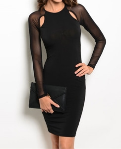 Body Con Dress - Black