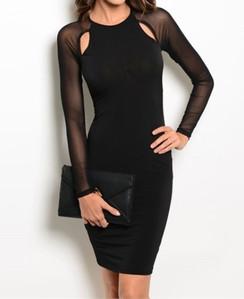 Body Con Dress - Black