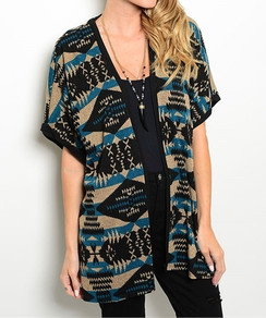 Open Front Tribal Cardigan