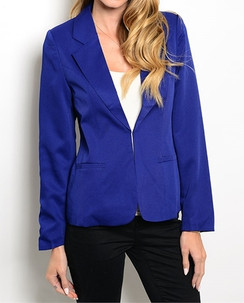 Notch Collar Blazer - Royal