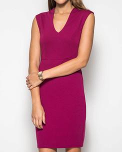 Bodycon Solid Dress--Magenta