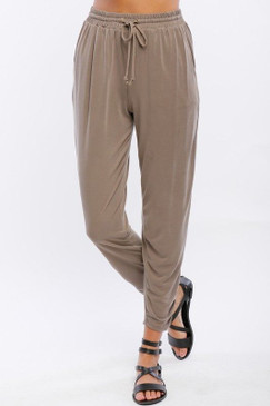 Modal Drawsting Joggers - Charcoal