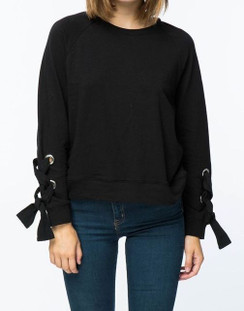 Black Long Sleeve Sweat Shirt