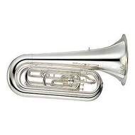 "YAMAHA YBB-202MSWC Marching BBb Silver Plated Tuba – 14.5"" Bell"