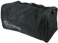 SILENT Brass carrying case for trombone, horn or flugelhorn system; black cordura