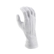 White Long-wristed Cotton Gloves