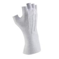 White Long-wristed Cotton (fingerless) Gloves