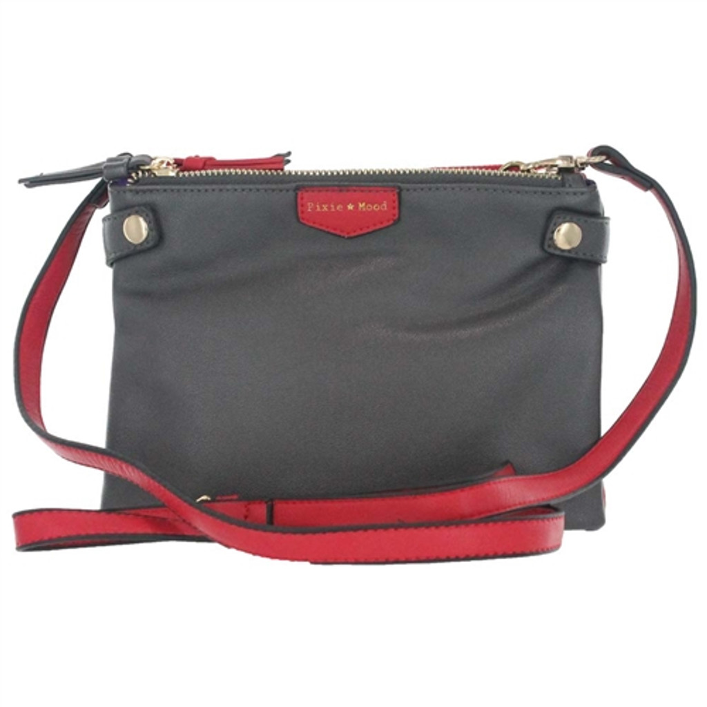 Pixie Mood Olivia Triple Crossbody Bag - Red & Grey
