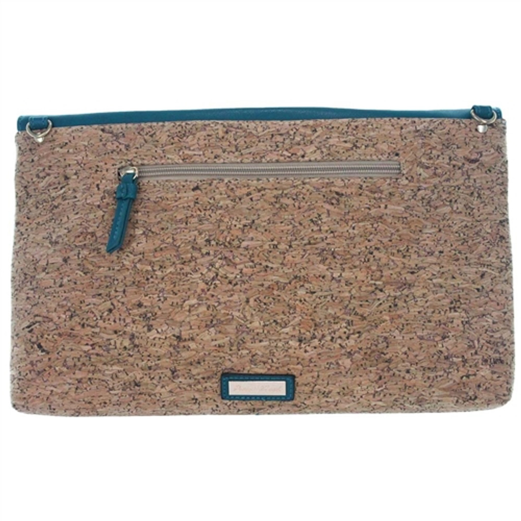 Pixie Mood Sophia Cork Clutch/Crossbody - Teal