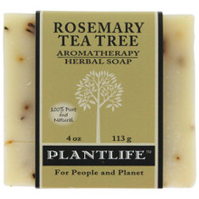 Plantlife Aromatherapy Herbal Soap - Rosemary Tea Tree