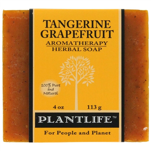 Plantlife Aromatherapy Herbal Soap - Tangerine Grapefruit