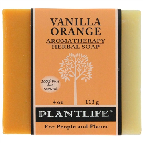 Plantlife Aromatherapy Herbal Soap - Vanilla Orange