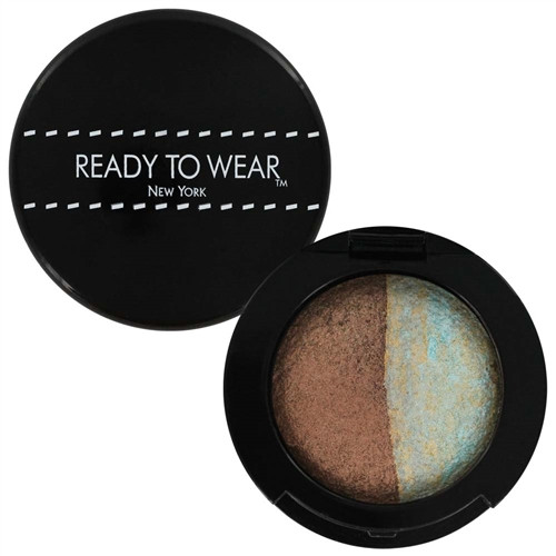 Ready To Wear Baked Eyeshadow - Cocoa Glow/Seafoam Melange