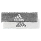 Adidas Interval Reversible Headband-Heathered Aluminum 2/White