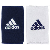 Adidas Interval Large Reversible Wristband-Collegiate Navy/White