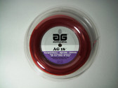 AG 16 Synthetic Gut Tennis String Reel-16-Red