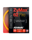 Ashaway ZyMax 62 Fire Badminton String Set-Fire Orange