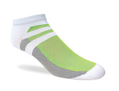Jox Sox Men's Supra Lite Limited Low-Cut Sock-White/Lime