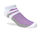 Jox Sox Women's Supra Lite Limited Low-Cut Sock-White/Purple