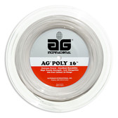 AG Poly 16 Polyester Tennis String Reel-White