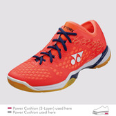 Yonex Men's Power Cushion 03 Z Badminton Shoe-Coral Red