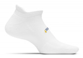 Feetures High Performance Cushion No Show Tab White