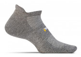 Feetures High Performance Cushion No Show Tab Heather Gray