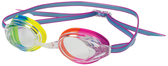 Leader Zenith Women's Swimming Narrow Goggles - Clear/Rainbow