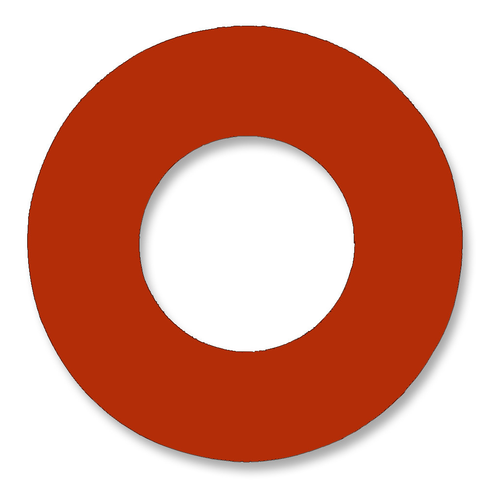 7237 Style Red Rubber Ring Gasket For Pipe Size: 6(6) Inches (15.24 ...