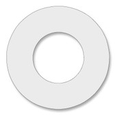 7530 Style PTFE, Virgin PTFE Ring Gasket For Pipe Size: 1 1/2(1.5) Inches (3.81Cm), Thickness: 1/16(0.0625) Inches (0.15875Cm), Pressure: 150# (psi). Part Number: CRG7530.1500.062.150