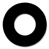 "7106 Neoprene Rubber 60 Durometer Ring Gasket 1-1/4"" Pipe Size,  1/32"" Thick, Pressure Class 150# (Min Qty: 20)"