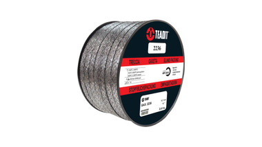 Teadit Style 2236 Graphite Foil with Inconel Wire Jacket Packing,  Width: 1/8 (0.125) Inches (3.175mm), Quantity by Weight: 25 lb. (11.25Kg.) Spool, Part Number: 2236.125X25