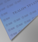 Teadit Style TF1570 Blue structured PTFE Tealon Sheet, Dimensions: Length: 12 Inches (30.48Cm), Width: 12 Inches (30.48Cm), Thickness: 1/8(0.125) Inches (0.3175Cm) Part Number: TF1570.12512X12