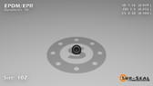 O-Ring, Black EPDM/EPR/Ethylene/Propylene Size: 102, Durometer: 70 Nominal Dimensions: Inner Diameter: 2/41(0.049) Inches (1.24mm), Outer Diameter: 13/51(0.255) Inches (0.255mm), Cross Section: 7/68(0.103) Inches (2.62mm) Part Number: OREPD102